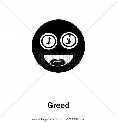 Greed Icon In Trendy Design Style. Greed Icon Isolated On White Background. Greed Vector Icon Simple