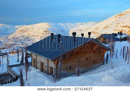 Ski Resort in the mountains of Lebanon. Faraya