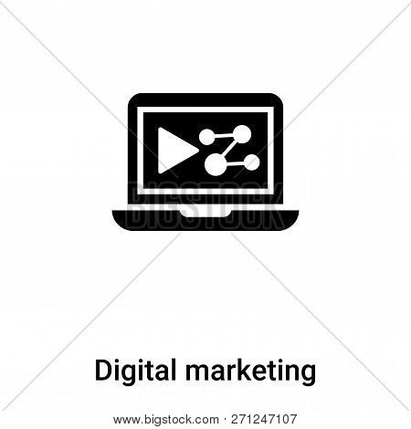 Digital Marketing Icon In Trendy Design Style. Digital Marketing Icon Isolated On White Background.