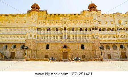 Eastern Entrance Facade Of Junagarh Fort, Bikaner, Rajasthan, India