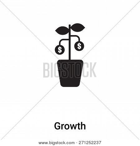 Growth Icon In Trendy Design Style. Growth Icon Isolated On White Background. Growth Vector Icon Sim