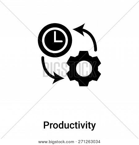 Productivity Icon In Trendy Design Style. Productivity Icon Isolated On White Background. Productivi
