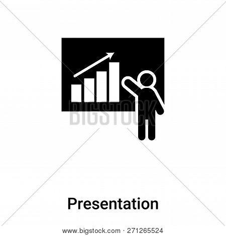 Presentation Icon In Trendy Design Style. Presentation Icon Isolated On White Background. Presentati