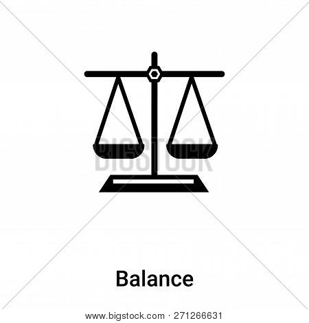 Balance Icon In Trendy Design Style. Balance Icon Isolated On White Background. Balance Vector Icon