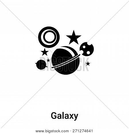 poster of Galaxy icon in trendy design style. Galaxy icon isolated on white background. Galaxy vector icon simple and modern flat symbol for web site, mobile, logo, app, UI. Galaxy icon vector illustration, EPS10.