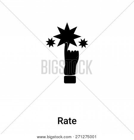 Rate Icon In Trendy Design Style. Rate Icon Isolated On White Background. Rate Vector Icon Simple An