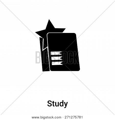 Study Icon In Trendy Design Style. Study Icon Isolated On White Background. Study Vector Icon Simple