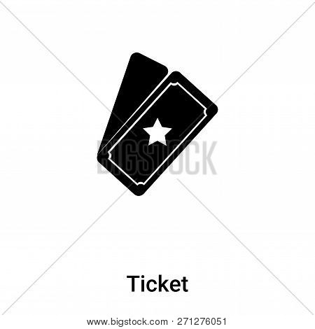 Ticket Icon In Trendy Design Style. Ticket Icon Isolated On White Background. Ticket Vector Icon Sim