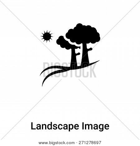 Landscape Image Icon In Trendy Design Style. Landscape Image Icon Isolated On White Background. Land