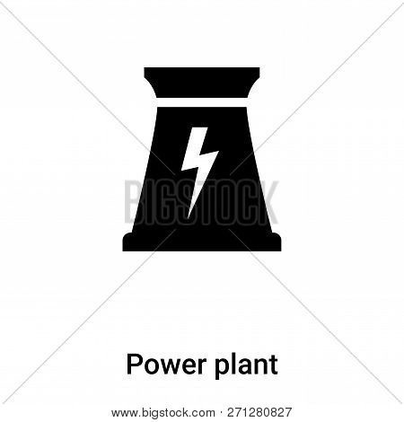 Power Plant Icon In Trendy Design Style. Power Plant Icon Isolated On White Background. Power Plant