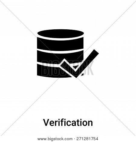 Verification Icon In Trendy Design Style. Verification Icon Isolated On White Background. Verificati