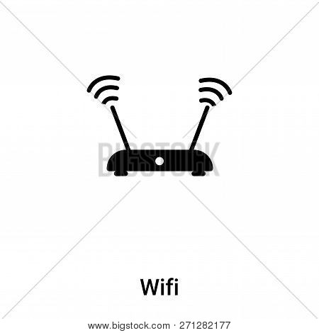 Wifi Signal Icon In Trendy Design Style. Wifi Signal Icon Isolated On White Background. Wifi Signal