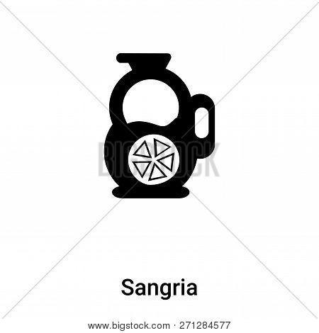 Sangria Icon In Trendy Design Style. Sangria Icon Isolated On White Background. Sangria Vector Icon