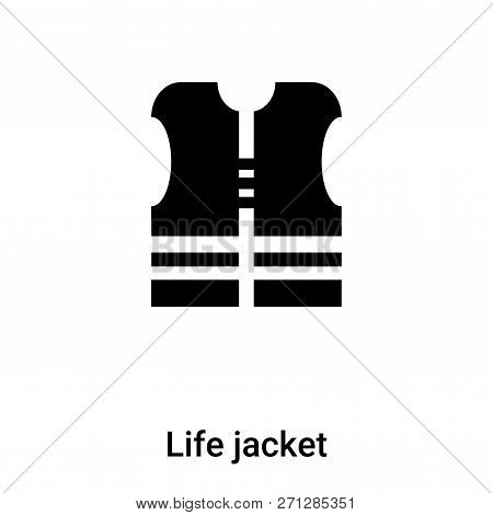 Life Jacket Icon In Trendy Design Style. Life Jacket Icon Isolated On White Background. Life Jacket