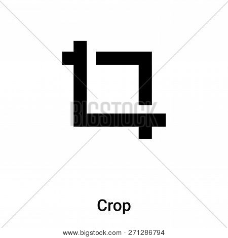 Crop Icon In Trendy Design Style. Crop Icon Isolated On White Background. Crop Vector Icon Simple An