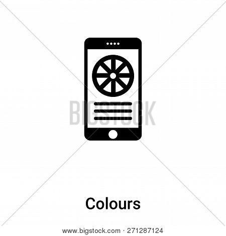 Colours Icon In Trendy Design Style. Colours Icon Isolated On White Background. Colours Vector Icon