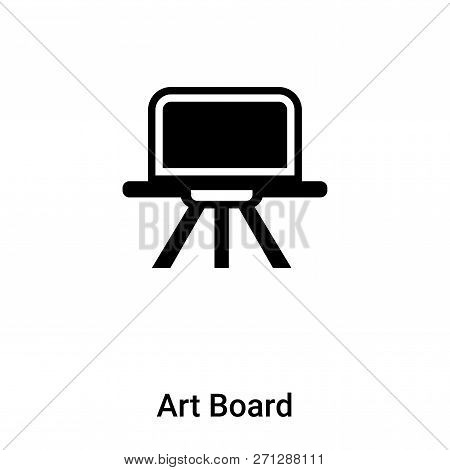 Art Board Icon In Trendy Design Style. Art Board Icon Isolated On White Background. Art Board Vector