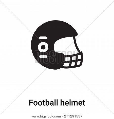 Football Helmet Icon In Trendy Design Style. Football Helmet Icon Isolated On White Background. Foot