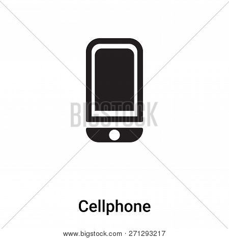 Cellphone Icon In Trendy Design Style. Cellphone Icon Isolated On White Background. Cellphone Vector