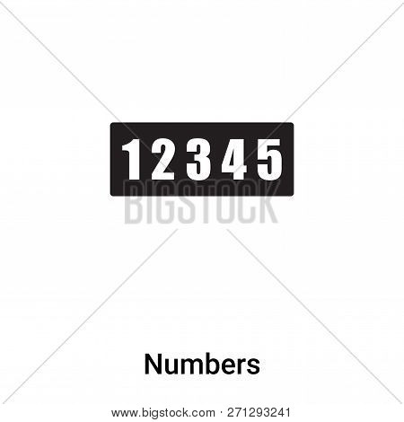 Numbers Icon In Trendy Design Style. Numbers Icon Isolated On White Background. Numbers Vector Icon