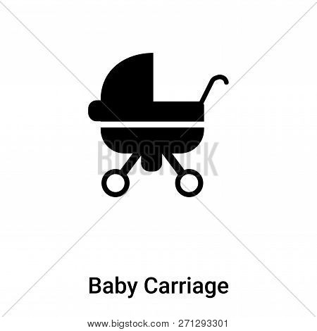 Baby Carriage Icon In Trendy Design Style. Baby Carriage Icon Isolated On White Background. Baby Car