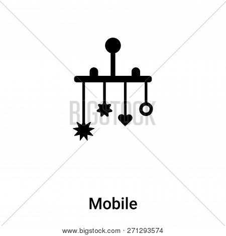 Mobile Icon In Trendy Design Style. Mobile Icon Isolated On White Background. Mobile Vector Icon Sim