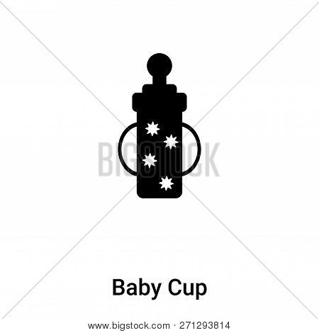 Baby Cup Icon In Trendy Design Style. Baby Cup Icon Isolated On White Background. Baby Cup Vector Ic