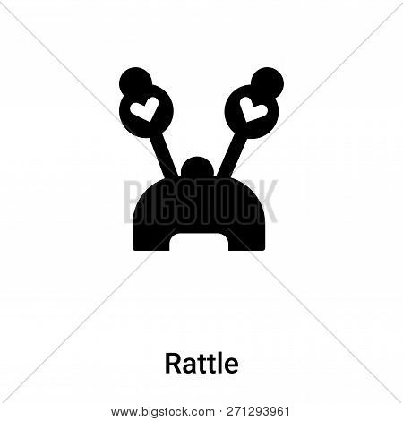 Rattle Icon In Trendy Design Style. Rattle Icon Isolated On White Background. Rattle Vector Icon Sim