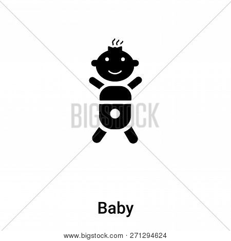 Baby Icon In Trendy Design Style. Baby Icon Isolated On White Background. Baby Vector Icon Simple An