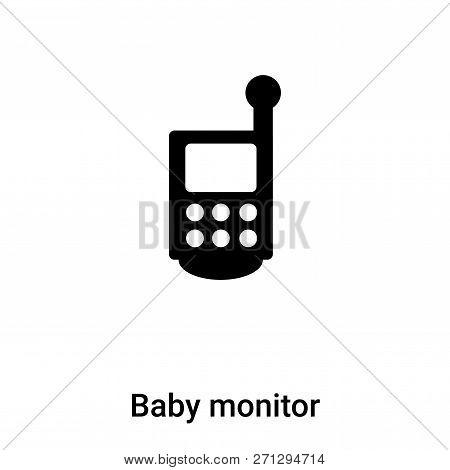 Baby Monitor Icon In Trendy Design Style. Baby Monitor Icon Isolated On White Background. Baby Monit