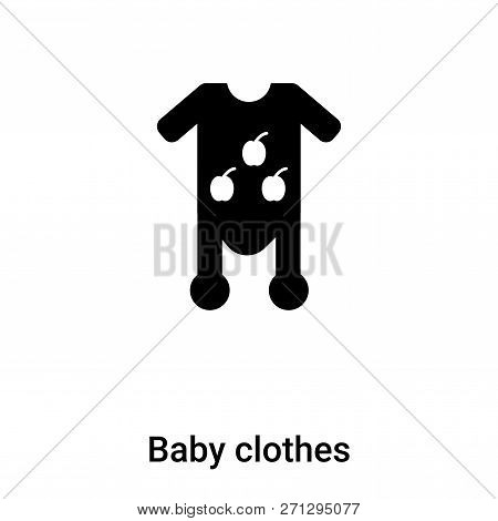 Baby Clothes Icon In Trendy Design Style. Baby Clothes Icon Isolated On White Background. Baby Cloth