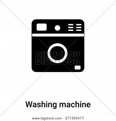 Washing Machine Icon In Trendy Design Style. Washing Machine Icon Isolated On White Background. Wash