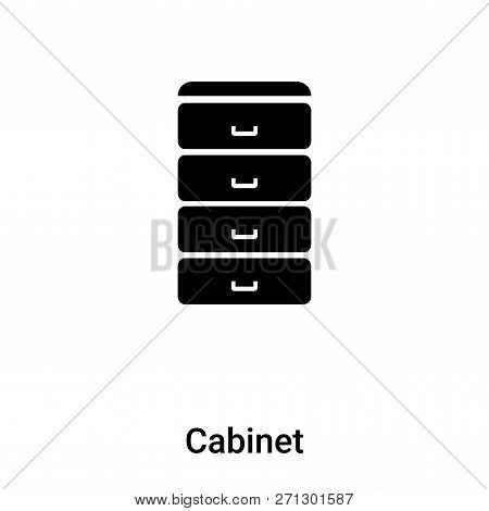 Cabinet Icon In Trendy Design Style. Cabinet Icon Isolated On White Background. Cabinet Vector Icon