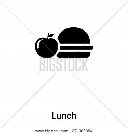 Lunch Icon In Trendy Design Style. Lunch Icon Isolated On White Background. Lunch Vector Icon Simple