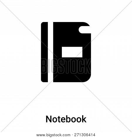 Notebook Icon In Trendy Design Style. Notebook Icon Isolated On White Background. Notebook Vector Ic