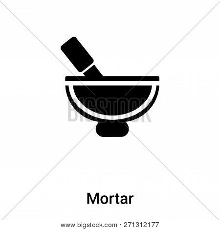 Mortar Icon In Trendy Design Style. Mortar Icon Isolated On White Background. Mortar Vector Icon Sim
