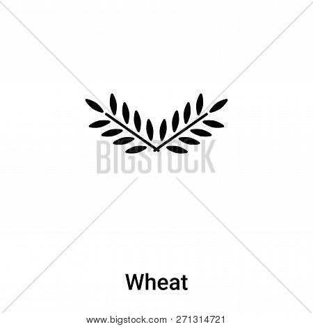 Wheat Icon In Trendy Design Style. Wheat Icon Isolated On White Background. Wheat Vector Icon Simple