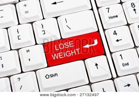 Gewicht verlieren anstelle der EINGABETASTE