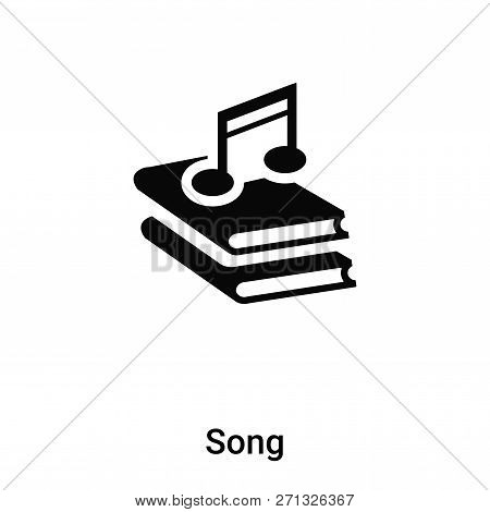Song Icon In Trendy Design Style. Song Icon Isolated On White Background. Song Vector Icon Simple An