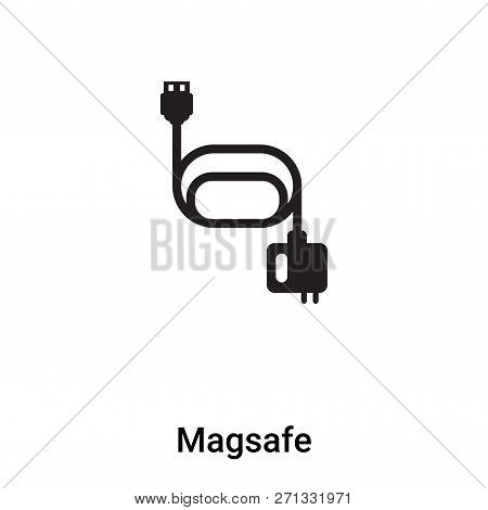 Magsafe Icon In Trendy Design Style. Magsafe Icon Isolated On White Background. Magsafe Vector Icon