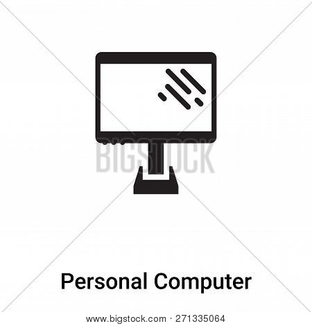 Personal Computer Icon In Trendy Design Style. Personal Computer Icon Isolated On White Background.