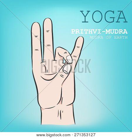 Hand In Yoga Mudra Position. Vector Illustration