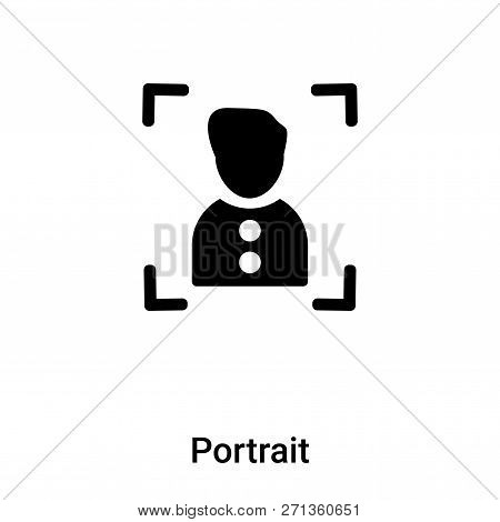 Portrait Icon In Trendy Design Style. Portrait Icon Isolated On White Background. Portrait Vector Ic