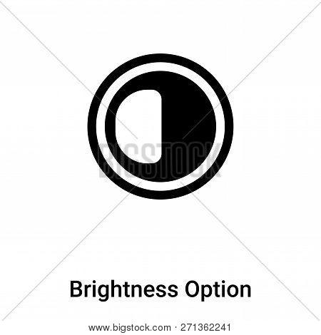 Brightness Option Icon In Trendy Design Style. Brightness Option Icon Isolated On White Background.