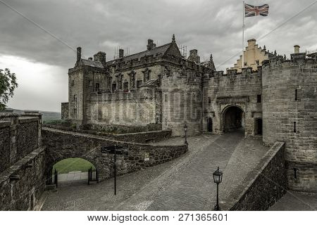 Stirling, Scotland - May 20: Entrance Gate Into The Stirling Castle On  May 20, 2018 In Stirling