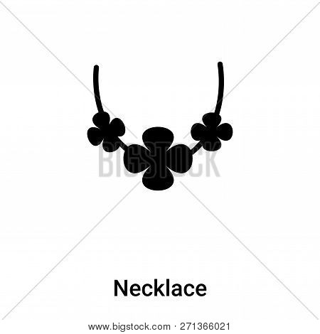 Necklace Icon In Trendy Design Style. Necklace Icon Isolated On White Background. Necklace Vector Ic