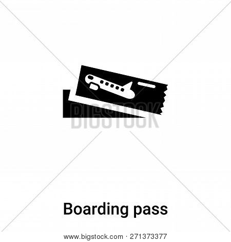 Boarding Pass Icon In Trendy Design Style. Boarding Pass Icon Isolated On White Background. Boarding