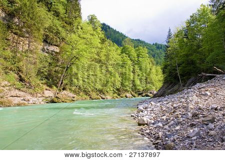 alpine wild river in austria poster