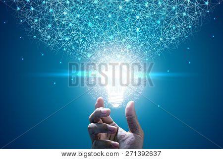 Innovative Idea In Businessman Hand. Innovative Idea Concept