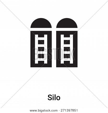 Silo Icon In Trendy Design Style. Silo Icon Isolated On White Background. Silo Vector Icon Simple An